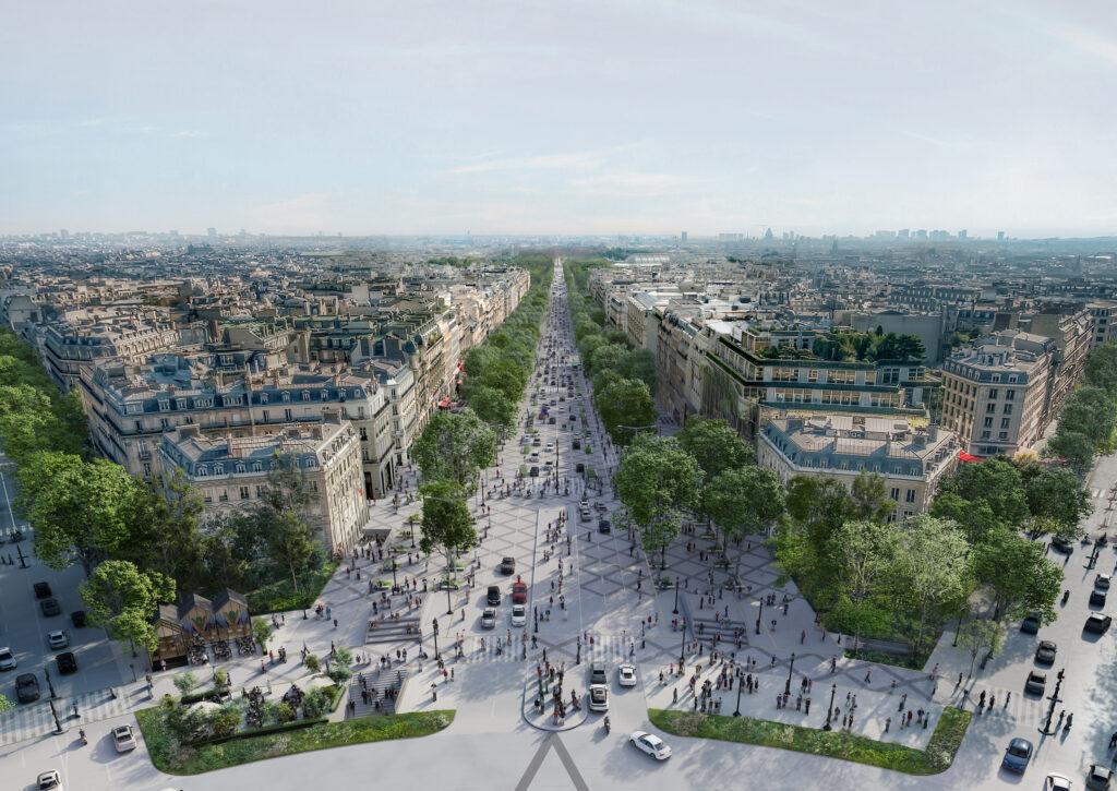 Proměna Champs-Élysées by měla být dokončena k roku 2030. Foto PCA-Stream