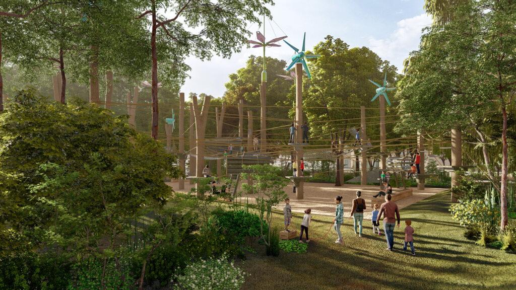 Bulvár by se měl organicky napojit na přiléhající 24hektarový park Jardin des Champs-Élysées. Foto PCA-Stream
