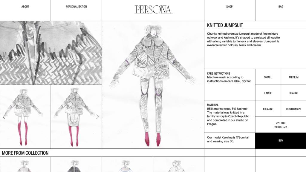 Alexandra Gnidiaková - e-shop Persona - Ateliér designu oděvu a obuvi - UMPRUM