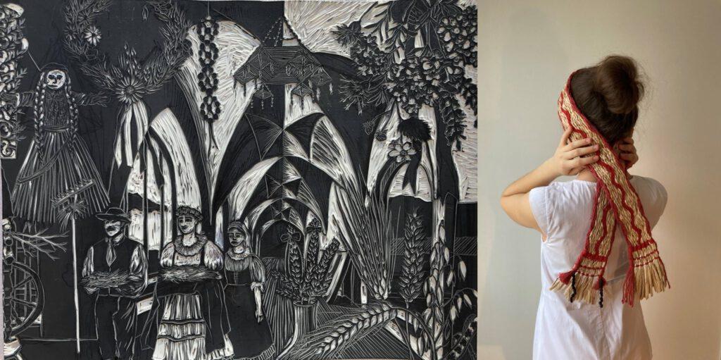 Natalia Dvoráková - Stuha - Ateliér textilní tvorby - UMPRUM