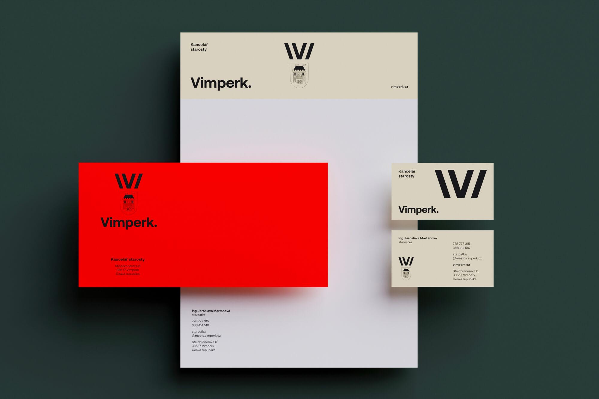 Nová vizuální identita Vimperk od Studia Chabera