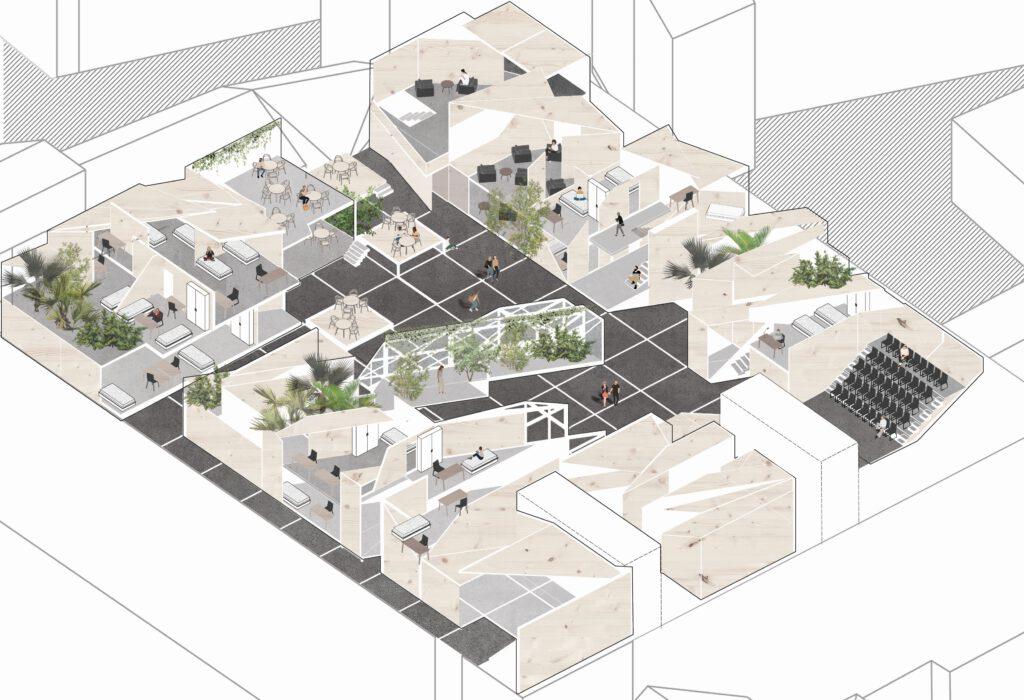 Virtual Dormitory - Suchánková - Fekar - Kavassayová - Ateliér architektury III - UMPRUM. K projektu vznikla i interaktivní hra