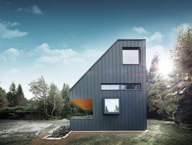 Chata v Nových Hamrech. NEW HOW architekti. Foto Petr Polák