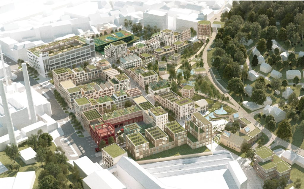 Nová Tepna z návrhu polských architektů by měla být soběstačnou čtvrtí. Zdroj Město Náchod
