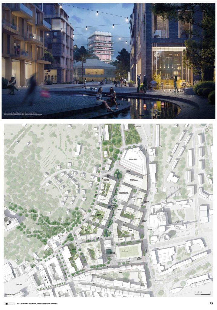 Návrh moskevských architektů z Leto architects skončil na třetím místě. Zdroj Město Náchod
