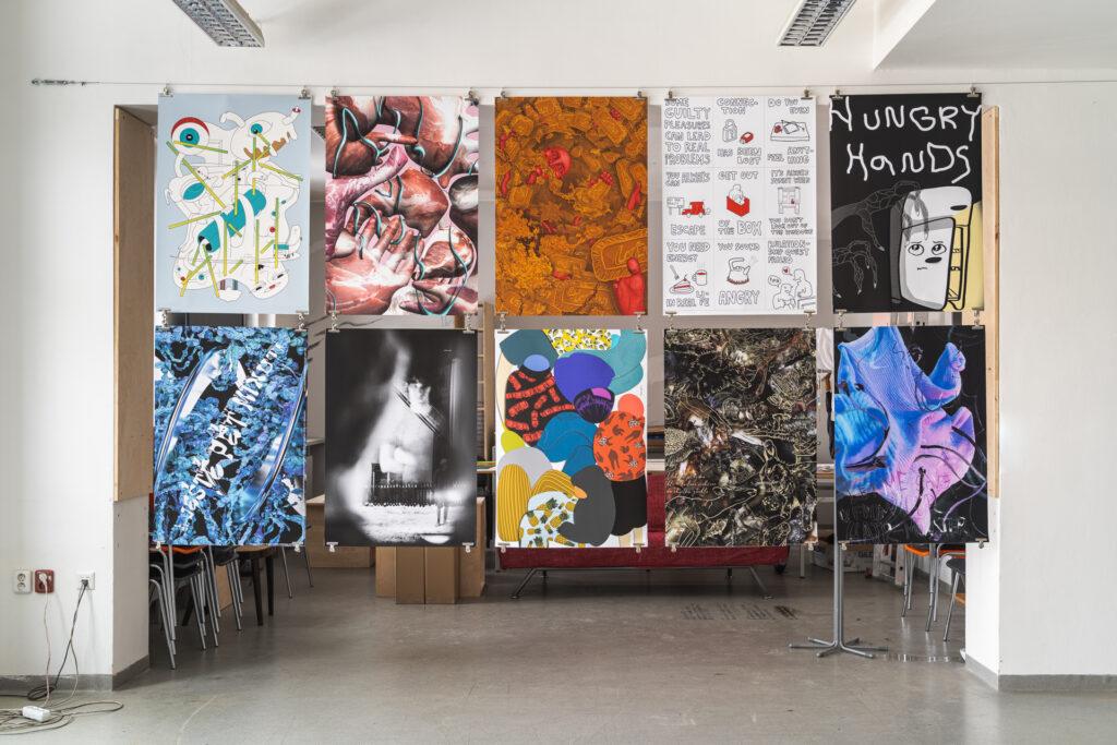 Instalace studentů ateliéru Vizuální design