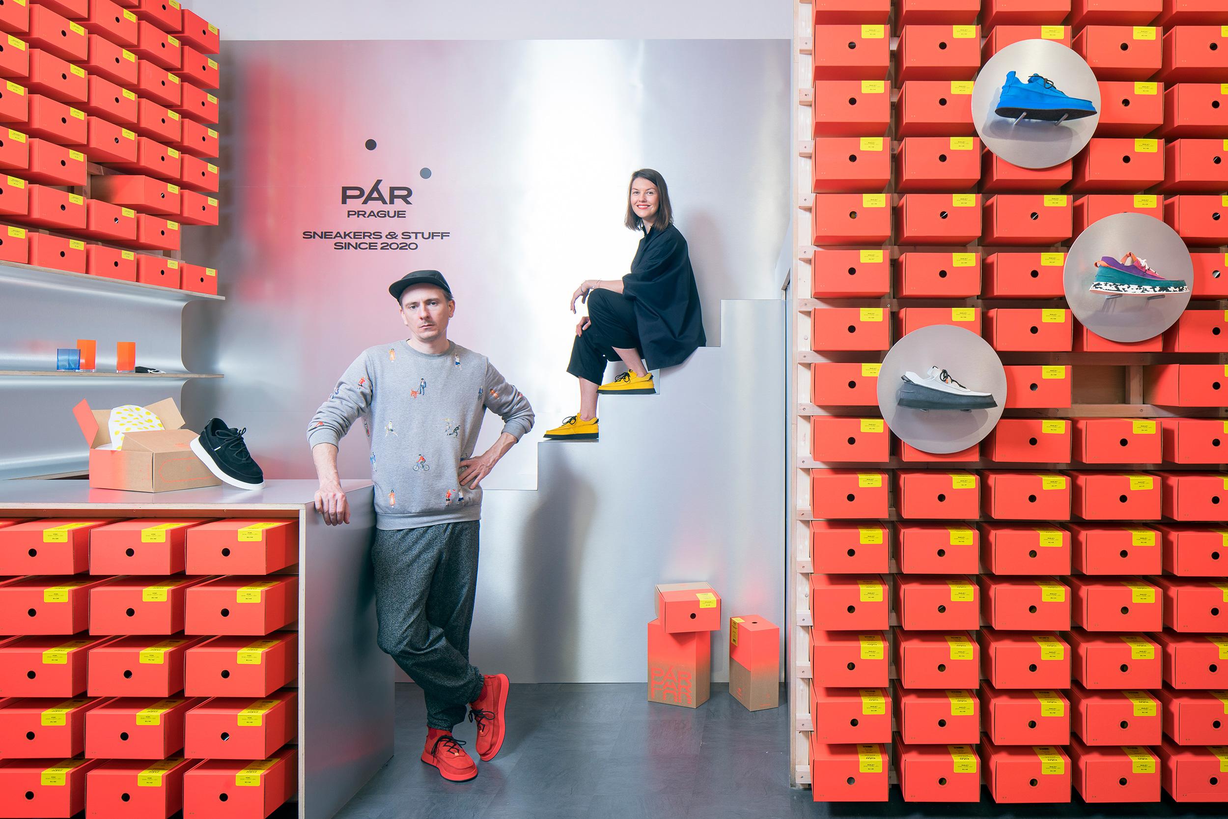 Zakladatelé značky PÁR Jan Kloss a Darina Zavadilová. Foto Tomáš Souček