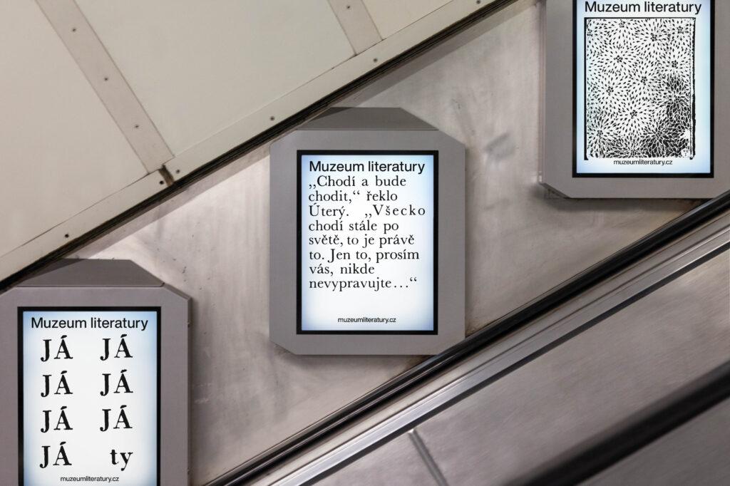 Vizuální identita připravovaného pražského Muzea literatury od studia 20YY Designers. Foto Czech Grand Design