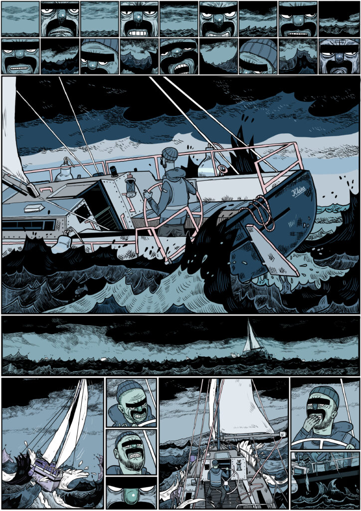 Autorský komiks SINGL (Labyrint) od ilustrátora Jiřího Franty. Zdroj Czech Grand Design