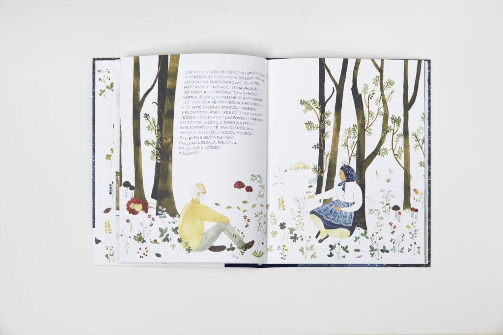 Ilustrace pro knihu Apolenka z modrotisku od Veroniky Vlkové a Jana Šrámka. Zdroj Czech Grand Design