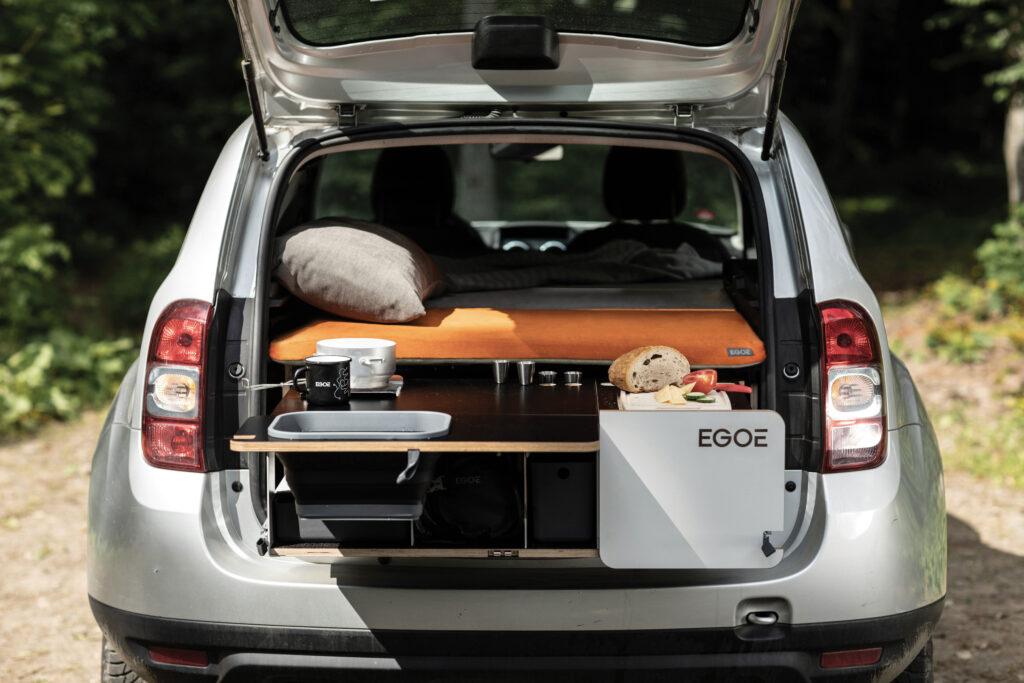 Autokempingová vestavba do auta Nestbox Tramp od výrobce Egoé. Foto Czech Grand Design/Julius Filip