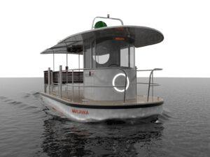 Jan Kulhánek - návrh převozní lodi pro Prahu. Zdroj Zlin Design Week