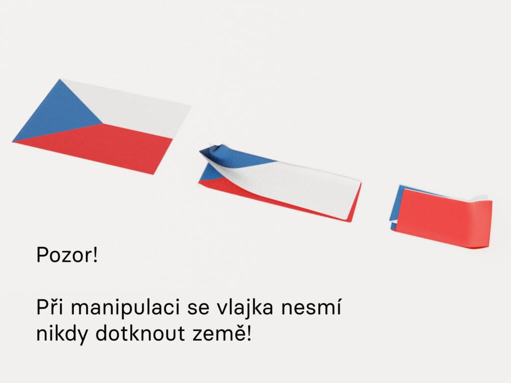 Julie Dítětová a Jáchym Moravec - Česká vlajka.online. Zdroj Zlin Design Week