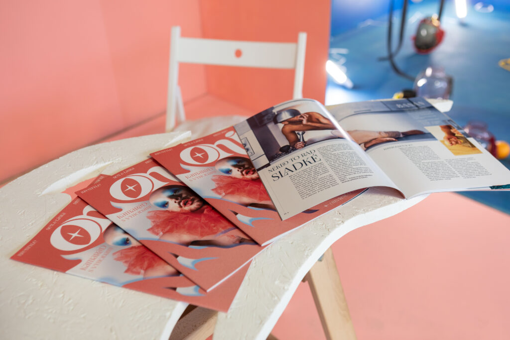 Magazín ONI představený na letošním Czech Design Week 2021. Foto Anna Pleslová