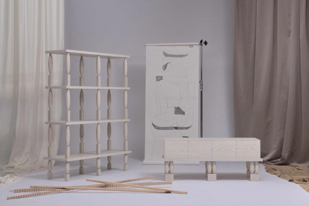 Kolekcí nábytku Nouveau inspirovanou českou secesí představil Krejčiřík poprvé v září během Paris Design Weeku. Zdroj Jiří Krejčiřík